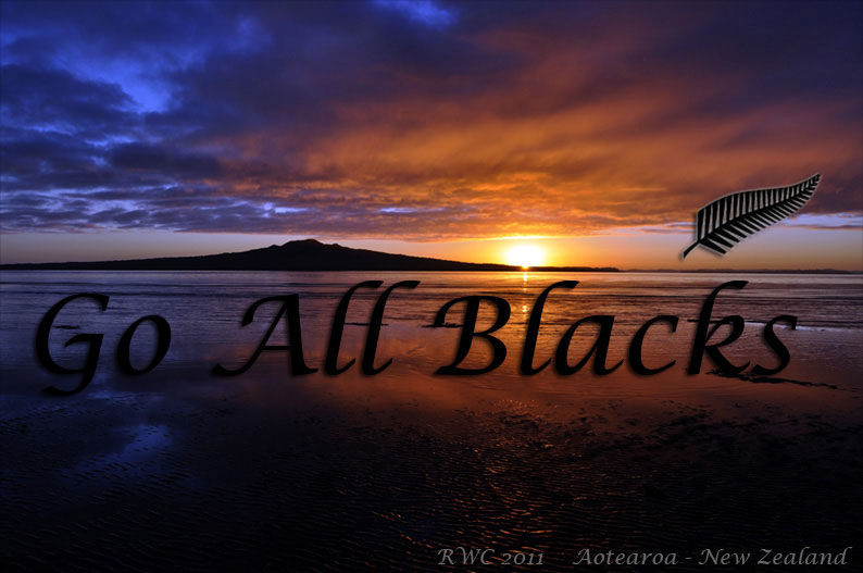 Rugby World Cup 2011. All Blacks, New Zealand